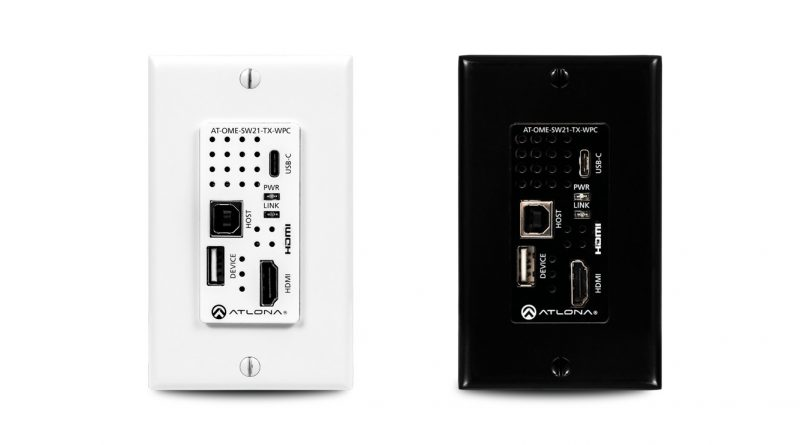 Wallplate HDBaseT Transmitter for HDMI and USB-C with USB Hub from Atlona