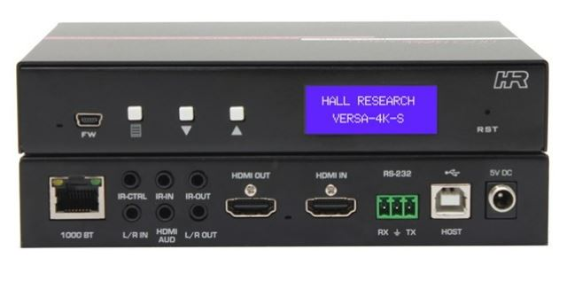 Versa-4K – 4K Video Plus USB Extension – Point-to-Point and over LAN from Hall Technologies